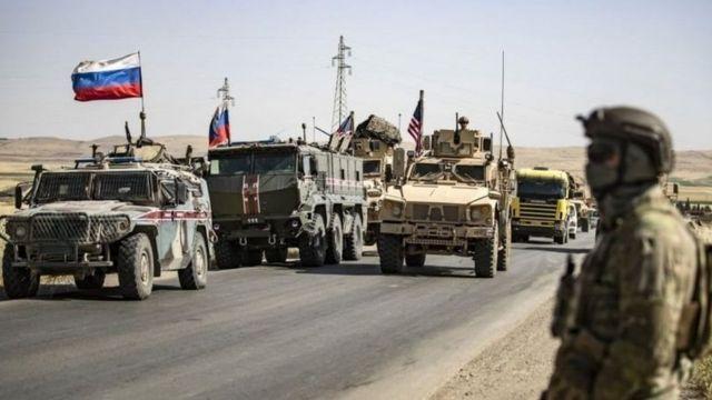 قوات أمريكية وروسية في سوريا