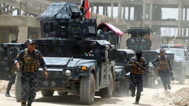 फलूजा में इराक की सरकारी सेना