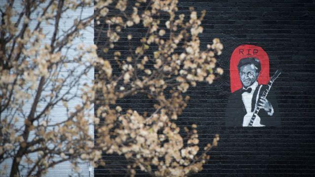 Mural honoring Chuck Berry.