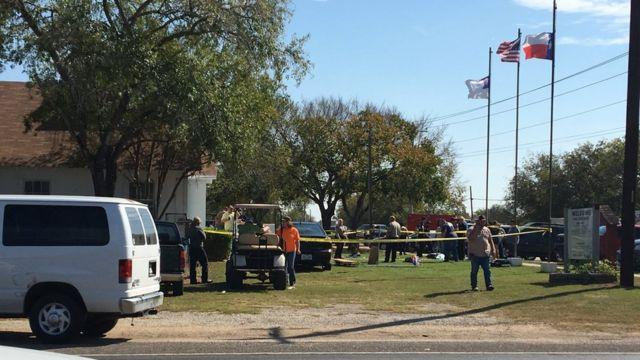 Zona del tiroteo de Texas el 5 de noviembre de 2017