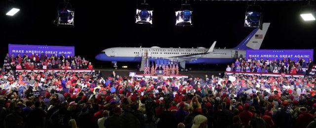 Rally de Trump en Mosinee, Wisconsin, en agosto.