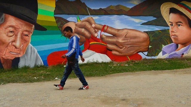 Mural in Colombia