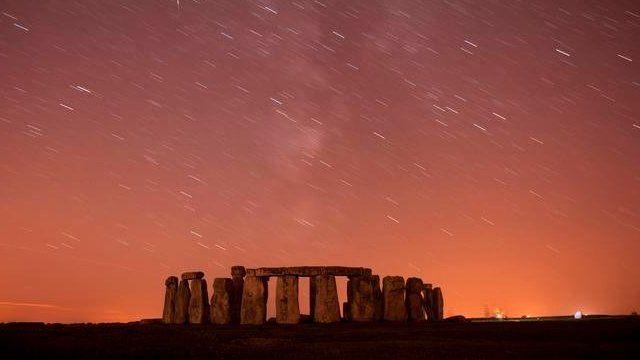 Meteor shower over Stonehenge - file image