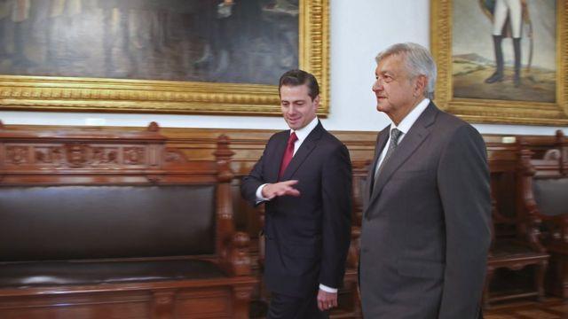 Peña Nieto con López Obrador.