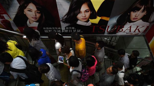 Pekin'de yolcular