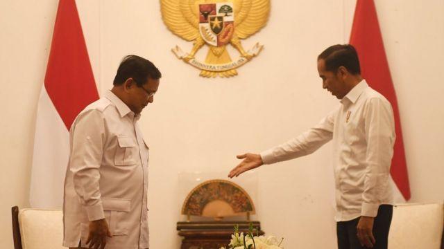 Presiden Joko Widodo dan Ketua Umum Partai Gerindra Prabowo Subianto