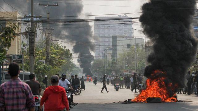 Столкновения в городе Мандалай