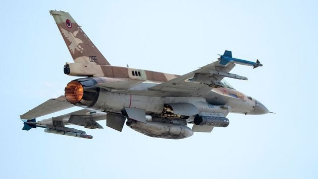 عکس آرشیوی از جنگنده اف-۱۶ اسرائیل