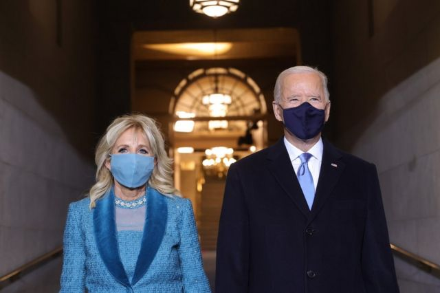 President-elect Joe Biden stands alongside Jill Biden