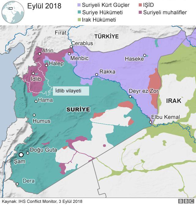 İdlib haritası