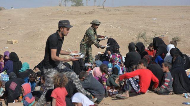 الموصل، قتال، نزوح