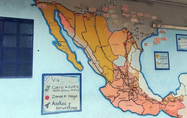Mapa de rutas migrantes