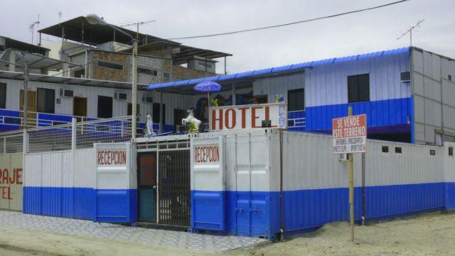 Un hotel hecho con contenedores