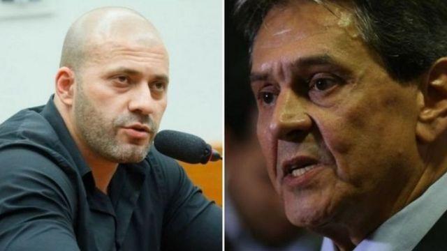 Daniel Silveira e Roberto Jefferson