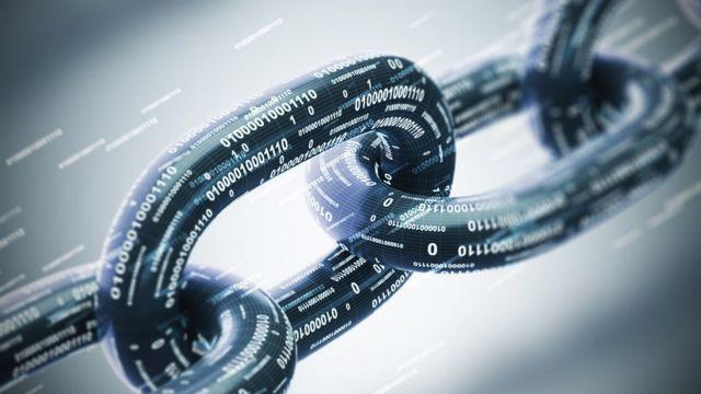 Ilustración de cadena y datos