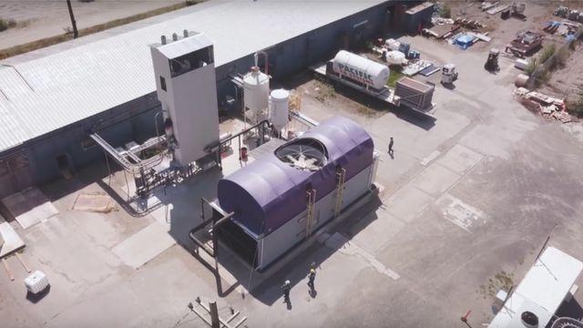 カナダのブリティッシュコロンビア州に建設された試験場で毎日1トンの二酸化炭素が大気から取り出されている