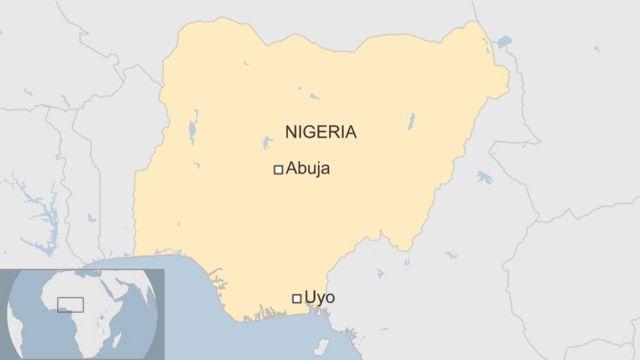 Une carte de la capitale du Nigeria, Abuja où s'est passé le drame