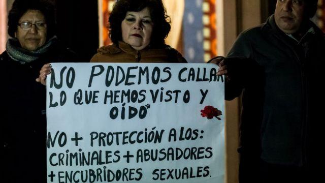 Protesta abusos iglesia en Chile