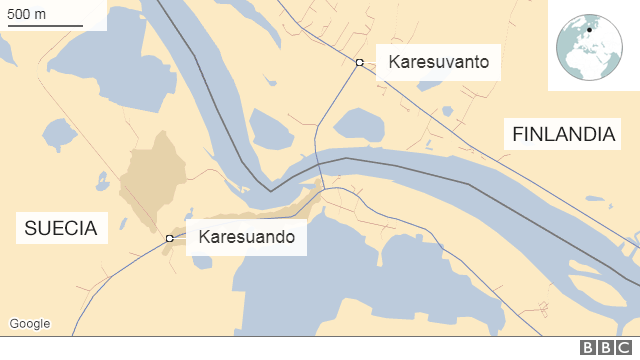 Mapa Karesuando