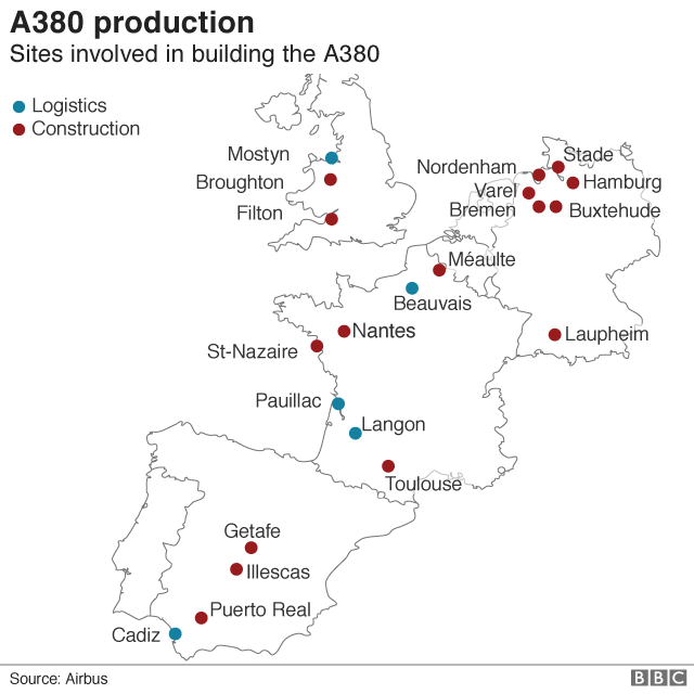 a380 production towns