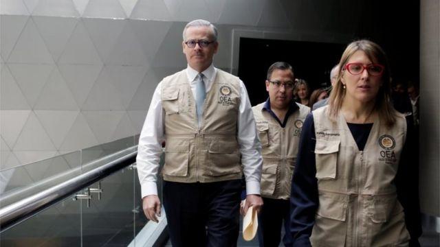 Observadores de la OEA en Bolivia