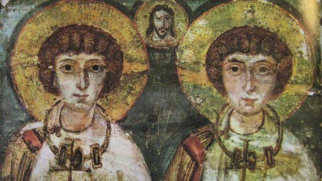 Una imagen de los santos Sergio y Baco que data del siglo VII.