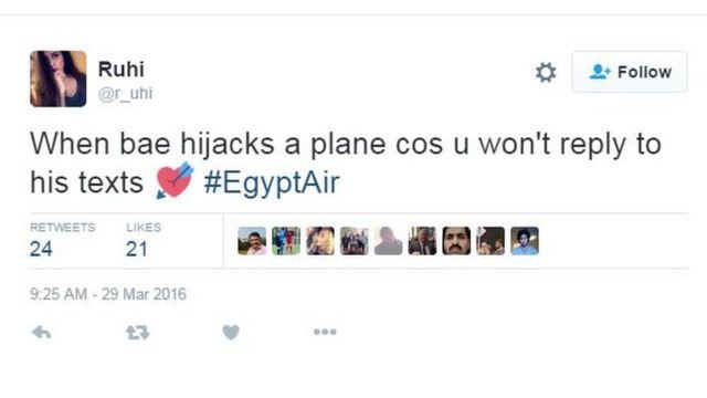 「メッセージに返信しないからって、ベイビーが飛行機をハイジャックしたら」