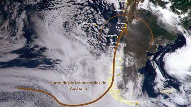 Image result for humo de australia visto en chile