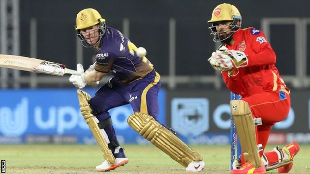 IPL: Eoin Morgan guides Kolkata Knight Riders to victory over Punjab Kings  - BBC Sport