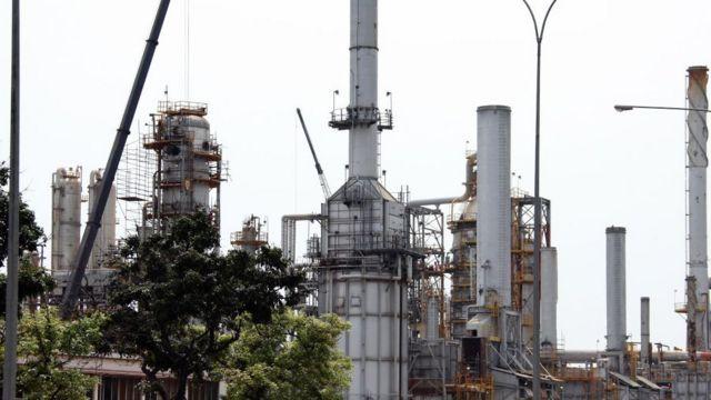 Planta petrolera venezolana.