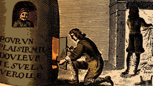 Ilustración antigua sobre la sífilis
