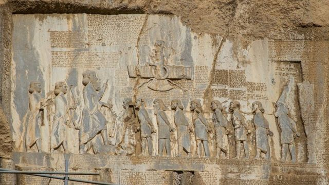 Achaemenid inscription at Behistun, Iran