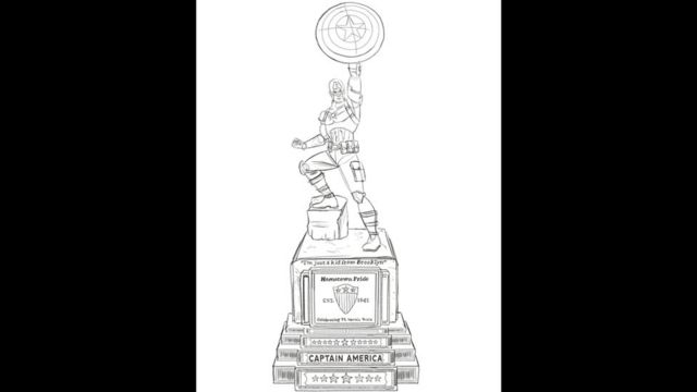 """Эскиз статуи """"Капитан Америка"""""""