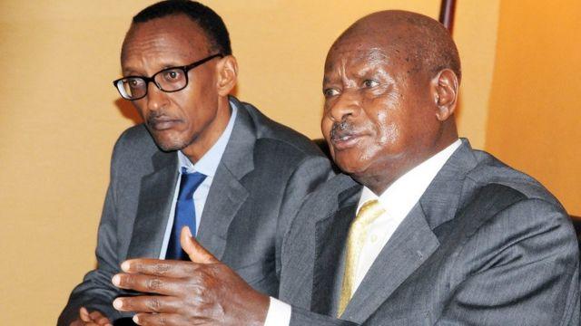 Rais Kagame na Rais Museveni