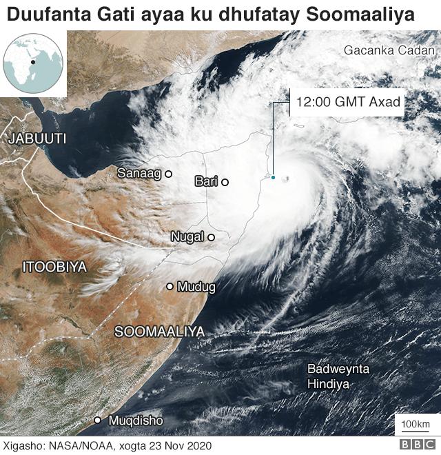 Khasaaraha duufaanka Gatis ee ku dhuftay Puntland - BBC News Somali