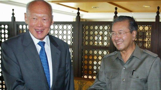 Lý Quang Diệu và Mahathir Mohamad