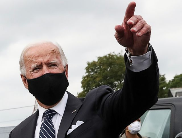 Joe Biden is leading polls nationally although the race in Florida has narrowed in the past week