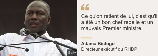 Adama Bictogo, le directeur exécutif du RHDP