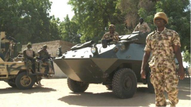 Des soldats du Nigeria