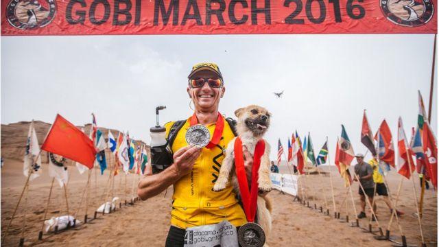 Gobi marathon runner returns to Edinburgh with dog