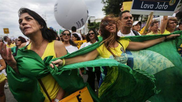 متظاهرات في ريو دي جانيرو