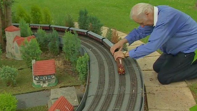 Roy James with trains