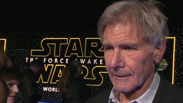 Harrison Ford on the red carpet on Hollywood Boulevard