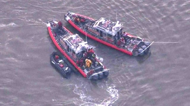 Search vessels on the Hudson River