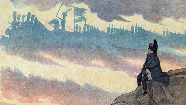 Иллюстрация: Наполеон в изгнании на острове Святой Елены