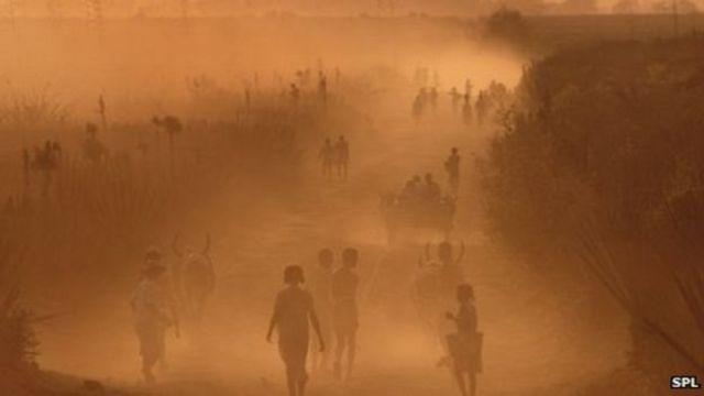 Paysage poussiéreux à Madagascar