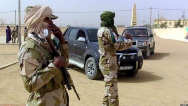 Soldats de l'armée malienne