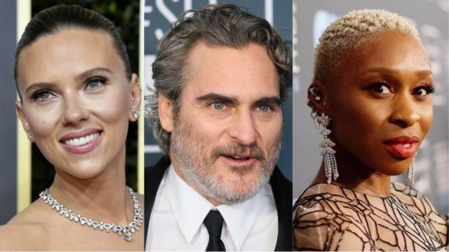 Scarlett Johansson, Joaquin Phoenix, Cynthia Erivo.