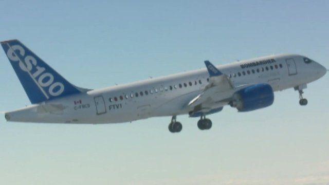 Bombardier's new C-series plane.