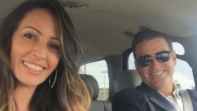 Ana Paula com o marido